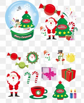Santa Claus And Christmas Creative Crystal Ball - Santa Claus Christmas Ornament Christmas Tree Clip Art PNG