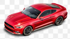 Red Ford Mustang GT Car - 2016 Ford Mustang GT Ford GT California Special Mustang Car PNG