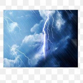 Thunder And Lightning - Lightning Rain Effect Thunder PNG