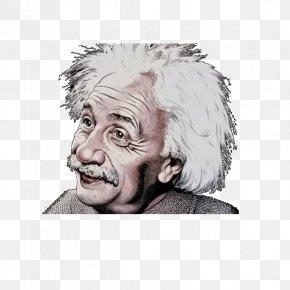 Smile Einstein's Head - Albert Einstein T-shirt Smile PNG