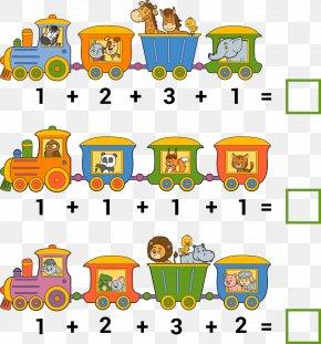 Vector Cartoon Train Mathematics - Addition Counting Mathematics Illustration PNG
