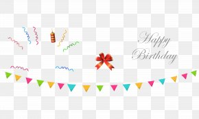 Happy Birthday Elements - Birthday Ribbon Download PNG