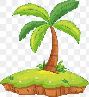Creative Cartoon Palm Island - Island Royalty-free Cartoon Clip Art PNG