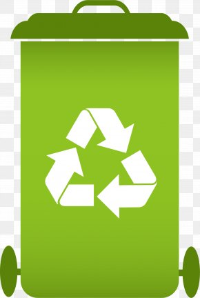Trash Can - Recycling Symbol Waste Management PNG