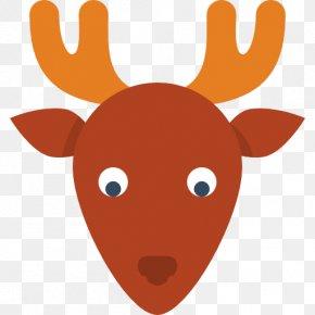 Deer - Reindeer Moose Santa Claus Icon PNG