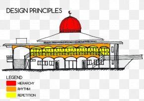 Balik Kampung - Surau Floor Plan Facade Building Sketch PNG