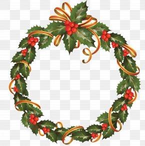 Wreath - A Christmas Carol Common Holly Christmas Tree Clip Art PNG