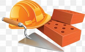 Construction Industry Tools - Bricklayer Architectural Engineering Trowel Building Illustration PNG