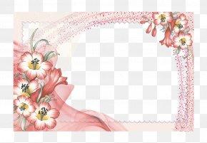 Border Floral Design - Flower Picture Frame Clip Art PNG