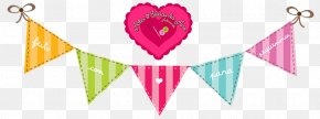 Birthday Flags - Bunting Greeting & Note Cards Banner Paper Clip Art PNG