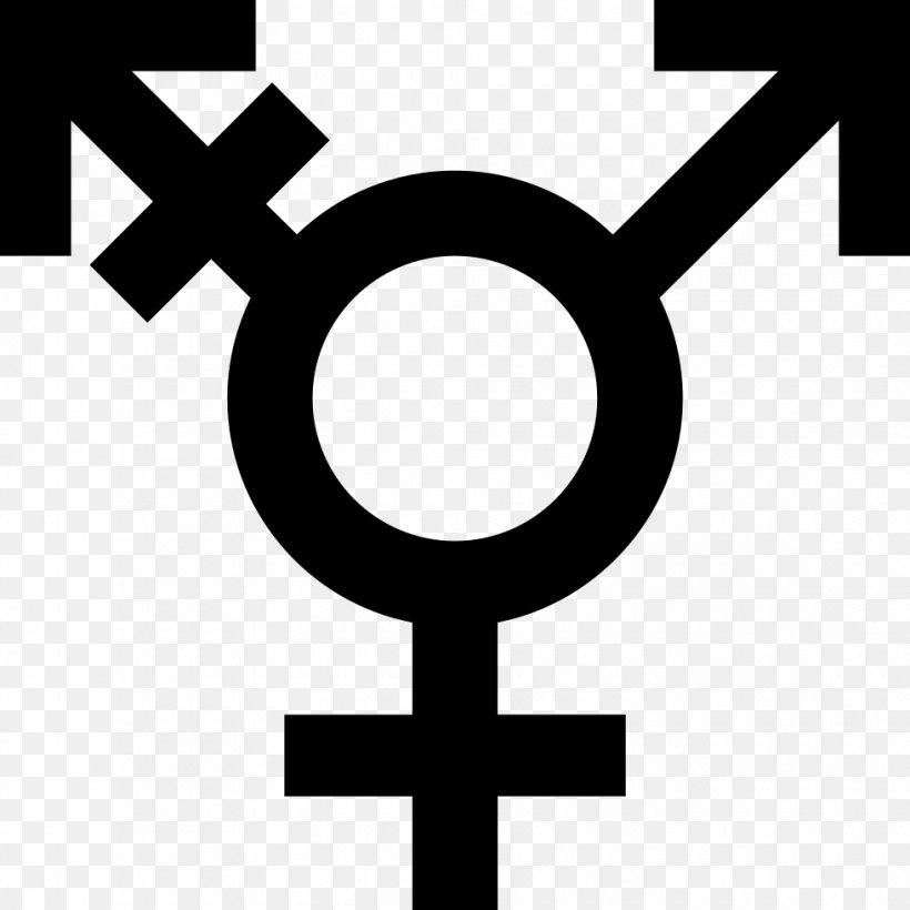 Gender Symbol Transgender LGBT Symbols, PNG, 980x980px, Gender Symbol, Androgyny, Area, Black And White, Brand Download Free