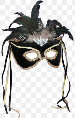 Carnival Mask - Mask Masquerade Ball Mardi Gras Feather Costume PNG