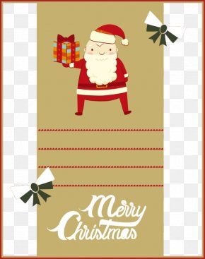 Cute Christmas Poster - Santa Claus Christmas Greeting & Note Cards Poster Illustration PNG