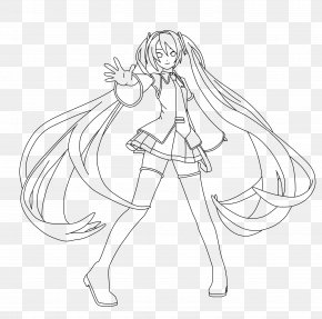 Line Art - Hatsune Miku Vocaloid Drawing Coloring Book Megurine Luka PNG