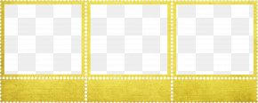 Orange Creative Frame - Textile Picture Frame Yellow Pattern PNG