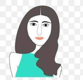 Long Hair Woman - Woman Long Hair Black Hair PNG