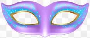 Purple Mask Transparent Clip Art Image - Mask Clip Art PNG