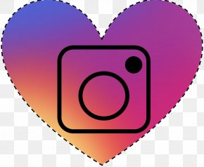 Purple Love - Social Media Heart Icon PNG