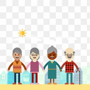 Vector Happy Elderly - Old Age International Day For Older Persons Aged Care Grandparent PNG