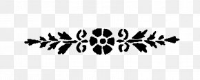 Floral Design - Black And White Floral Design Clip Art PNG