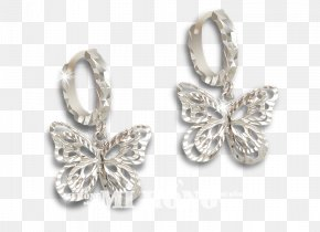 Jewellery - Earring Jewellery Butterfly Silver Cửa Hàng Trang Sức Pnj PNG