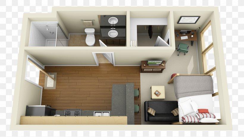 Floor Plan House Studio Apartment, PNG