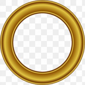 Golden Round Frame Free Download - Picture Frame Circle Gold Clip Art PNG
