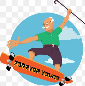 Old Skateboarding Vector - Retirement Jokes: A Little Book Of Quips And Quotes Elderly Old Age Clip Art PNG