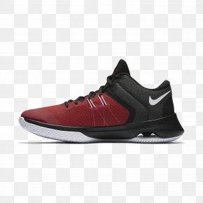 Nike - Sneakers Skate Shoe Basketball Shoe Red PNG
