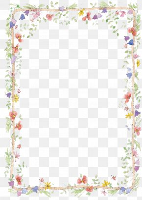 Free To Pull Hand Painted Small Fresh Borders - Border Flowers Clip Art PNG