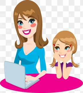 Mother And Daughter Painted - Mother Clip Art PNG