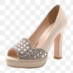 Yellow High-heeled Sandals - Slipper High-heeled Footwear Sandal Shoe PNG