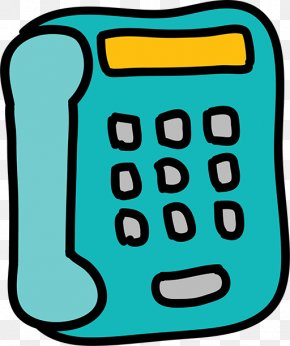 Blue Phone - Telephone Telephony Mobile Phones PNG