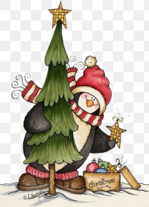 Christmas Penguin Christmas Tree With Christmas Gifts - Mrs. Claus Christmas Tree Santa Claus Clip Art PNG
