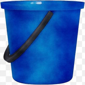 Bucket Recycling Bin - Blue Cobalt Blue Turquoise Waste Container Plastic PNG