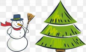 Vector Snowman - Christmas Tree Snowman PNG