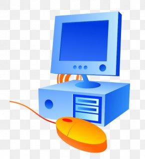 Cartoon Blue Computer - Computer Mouse Desktop Computers Personal Computer PNG