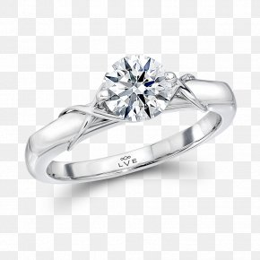 Solitaire Ring - Diamond Wedding Ring Engagement Ring Jewellery PNG