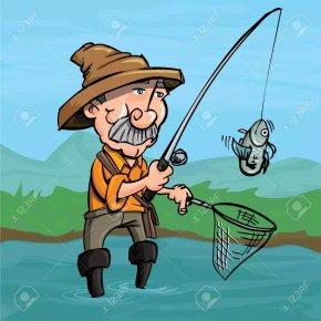 Fishing - Fishing Rods Fisherman Clip Art PNG