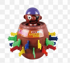 April Fool's Day Children's Cartoon Trespass Pirate Bucket - Uncle Pirate Piracy Barrel Bucket Piggy Bank PNG