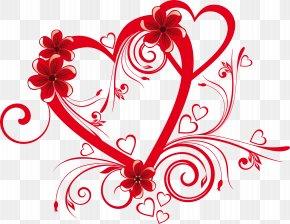 Valentine's Day - Valentine's Day Heart Flower Clip Art PNG