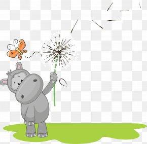 Hippo Dandelion - Clip Art PNG