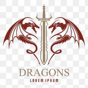 Dragon And Sword - Logo Sword PNG