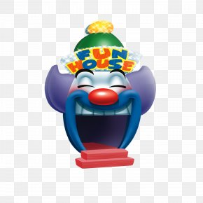 Blue Cartoon Clown - Clown Cartoon Roller Coaster PNG