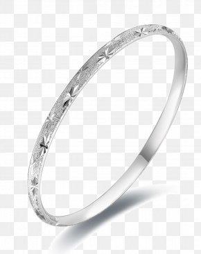 Silver Pattern Lady Bracelet - Bangle Earring Silver Bracelet PNG