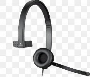 Microphone - Microphone Headphones Headset Logitech H570e Computer PNG