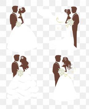 The Bride And Groom Illustration - Wedding Invitation Bridegroom PNG