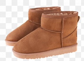 Brown Snow Boots - Snow Boot Shoe Slipper PNG