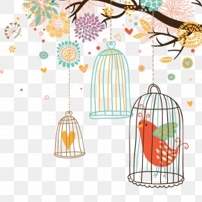 Hand-painted Illustration - Bird Euclidean Vector Drawing PNG