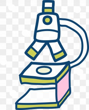 Cartoon Hand Drawing Microscope - Microscope Clip Art PNG